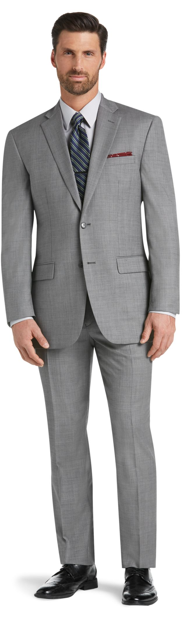 Wrinkle-Free & No Iron Suits | Traveler Suit Collection | JoS. A. Bank