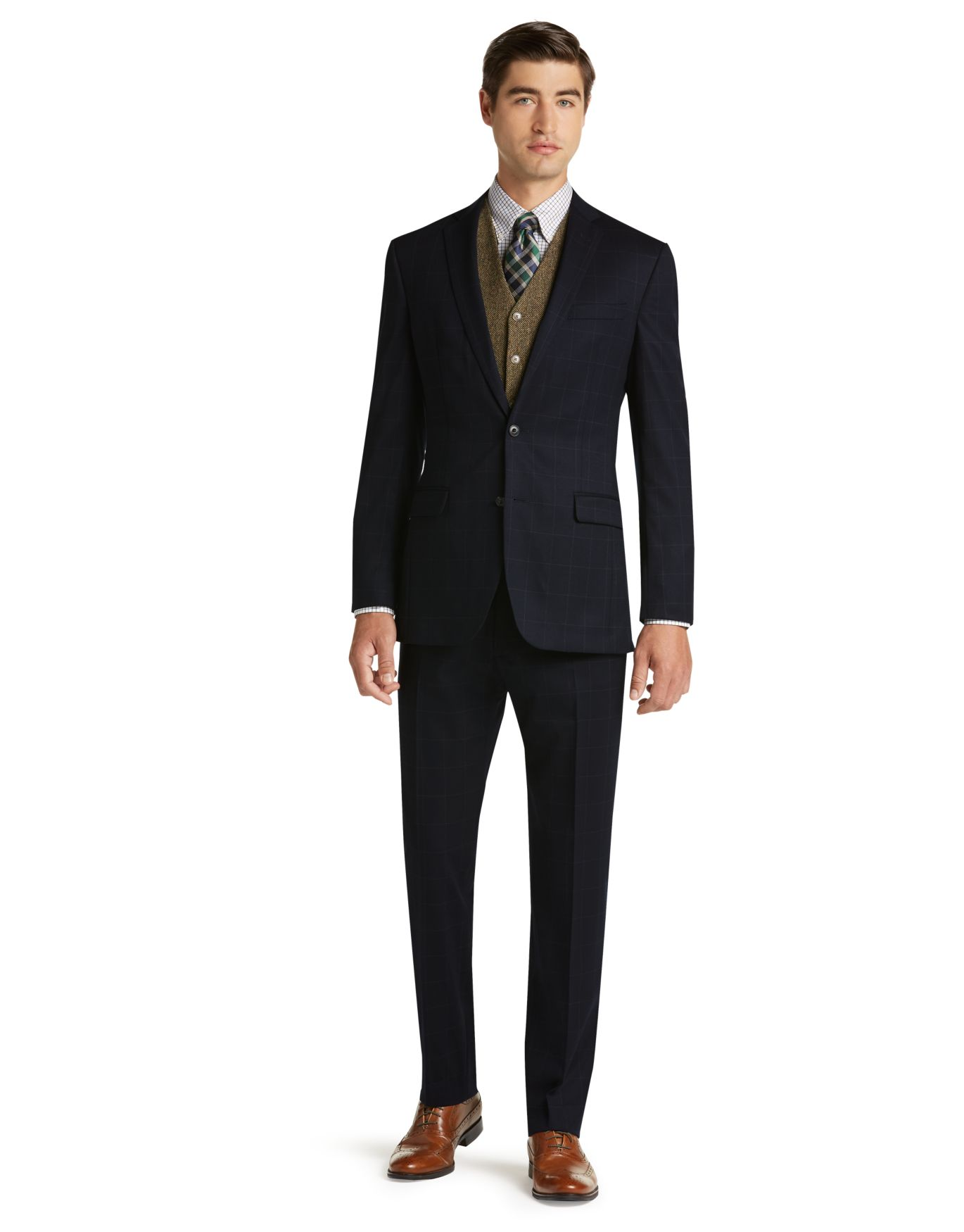 1905 Collection Slim Fit Windowpane Suit - 1905 Suits | Jos A Bank