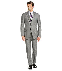 Men's Vintage Style Suits, Classic Suits Reserve Collection Traditional Fit Plaid Mens Suit by JoS. A. Bank - 40 Regular BlkWht Pld $499.00 AT vintagedancer.com