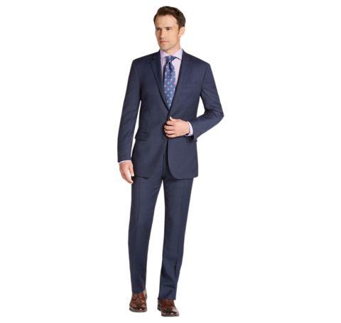 1905 Collection Slim Fit Mini Check Suit - 1905 Suits   Jos A Bank
