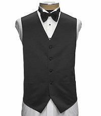 1920s Mens Evening Wear Step By Step Black Silk Vest $49.98 AT vintagedancer.com
