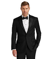 1920s Mens Formal Wear: Tuxedos and Dinner Jackets 1905 Tuxedo Jacket Big and Tall by JoS. A. Bank - 52 Regular Black $438.00 AT vintagedancer.com