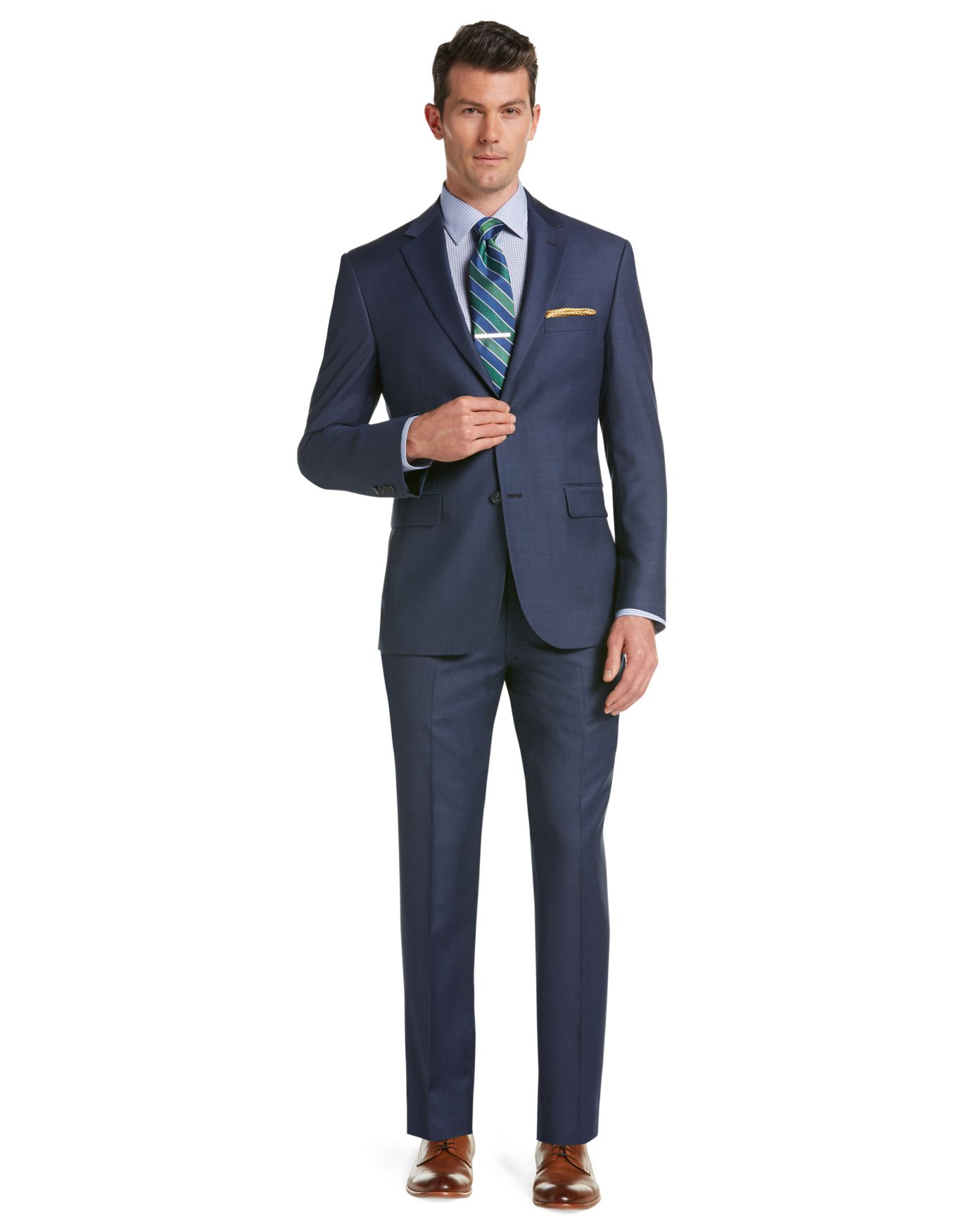 Sharkskin Suit - Tailored Fit Traveler Suit Collection   JoS A. Bank