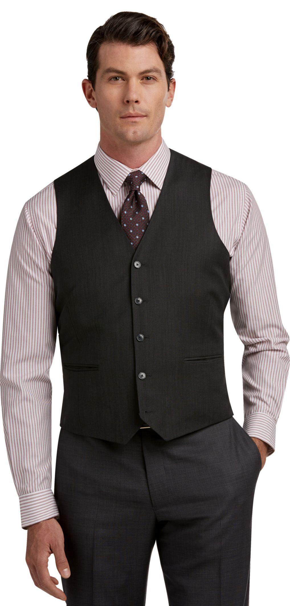 Black dress shirt grey jacket