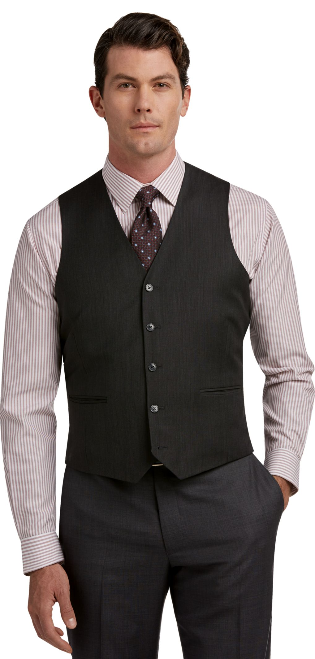 Traveler Collection Slim Fit Suit Separate Vest - Big & Tall - All ...