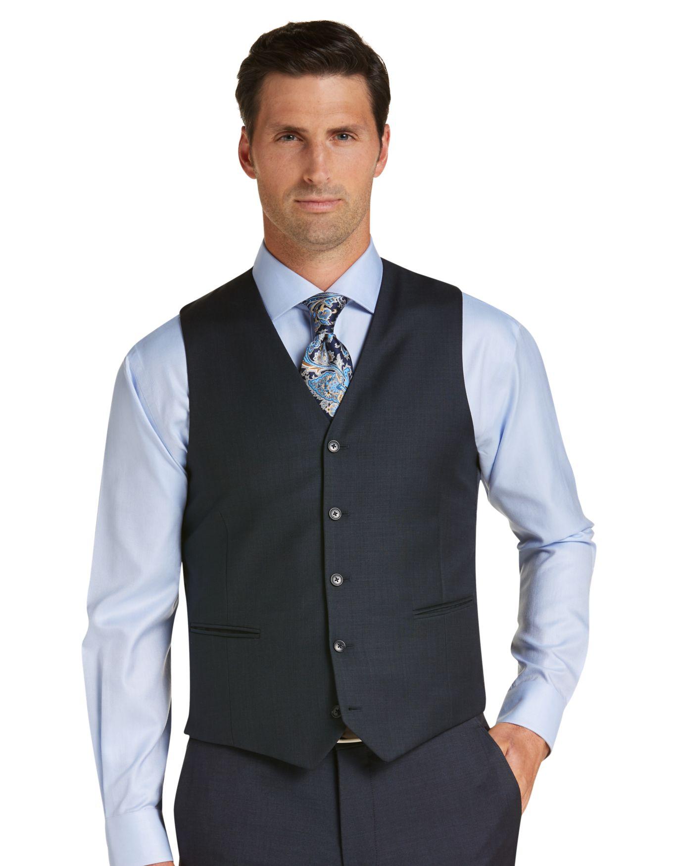 Traveler Slim Fit Suit Separate Vest - Top 10 Men's Clothing | Jos ...