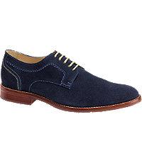 Johnston  Murphy Garner Plain Toe Mens Shoes - 9.5 D Width Navy $155.00 AT vintagedancer.com