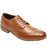 1930s Style Mens Shoes Style Purpose Wingtips by Rockport Mens Shoes - 9 D Width CognacSctchgrn $125.00 AT vintagedancer.com