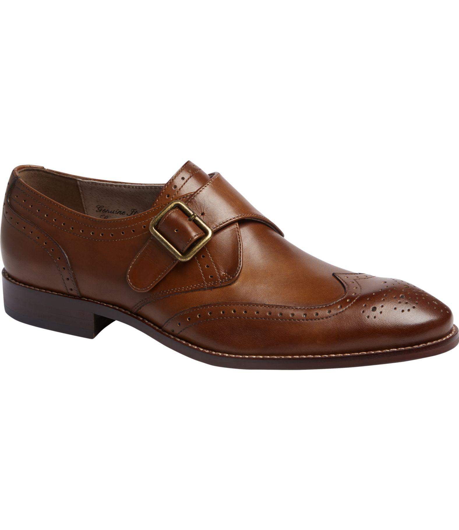 Joseph Abboud Rodi Monk Strap Wingtip Dress Shoes - Joseph Abboud ...