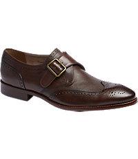 Joseph Abboud Rodi Monk Strap Wingtip Dress Shoes
