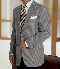 Executive 2-Button Silk/Wool Windowpane Check Sportcoat
