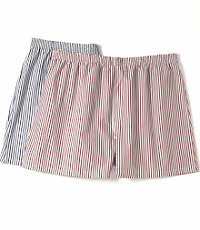Classic Cotton Broadcloth Striped Boxer
