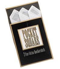 White Cotton Handkerchief (2 Pack)