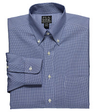 Traveler Pinpoint Houndstooth Buttondown Collar Dress Shirt Big or Tall
