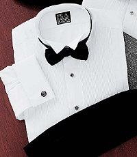 Signature 28-Pleat Broadcloth Wing Collar Formal Dress Shirt Big Or Tall