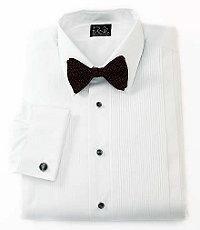 Signature 28-Pleat Broadcloth Point Collar Formal Dress Shirt Big Or Tall