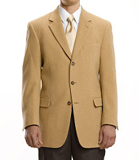 Executive 3-Button Camel Hair Blazer