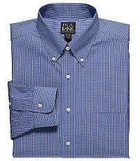 Traveler Pinpoint Check Buttondown Collar Dress Shirt