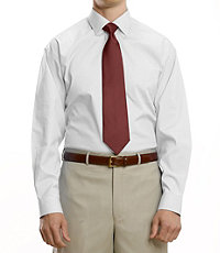 Traveler Pinpoint Solid Spread Collar Dress Shirt Big or Tall