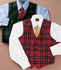Reversible Tartan Plaid Vest