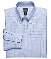 Traveler Pinpoint Glen Plaid Buttondown Collar Dress Shirt