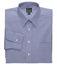 Traveler Pinpoint Houndstooth Point Collar Dress Shirt Big or Tall