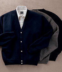 Signature Merino Wool Cardigan Sweater