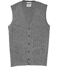 1900s Edwardian Men's Suits and Coats 1905 Ribbed Knit Tailored Fit Mens Sweater Vest Big and Tall - 3 X Big Grey $59.00 AT vintagedancer.com