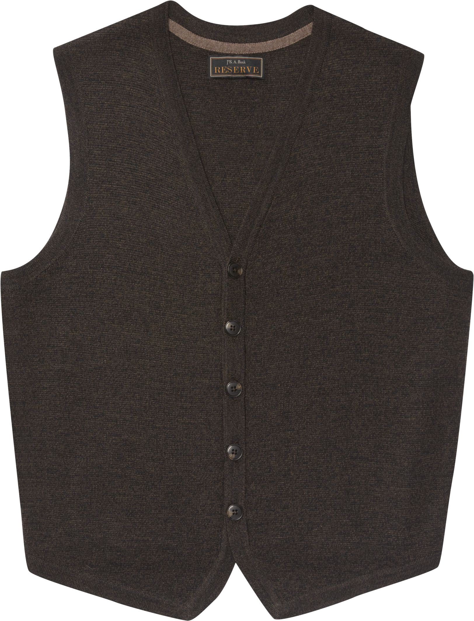 Reserve Collection Button Front Sweater Vest Big and Tall ...