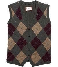 1920s Style Mens Vests 1905 Tailored Fit Argyle Mens Sweater Vest - Big and Tall - 2 X Big 2 X Big Olive Multi Olive Multi $49.00 AT vintagedancer.com