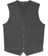Men's Vintage Inspired Vests Reserve Collection Small Cable Pattern Tailored Fit Mens Sweater Vest Big and Tall - 4 X Tall Charcoal $119.50 AT vintagedancer.com