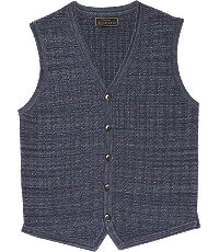 Men's Vintage Inspired Vests Reserve Collection Small Cable Pattern Tailored Fit Mens Sweater Vest - Medium Navy $109.50 AT vintagedancer.com