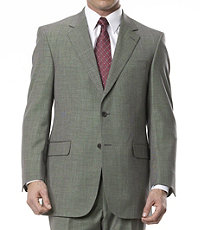1950s Style Mens Suits Signature Gold 2-Button Wool Mens Suit Big and Tall CLEARANCE by JoS. A. Bank - 48 Long Dark Grey $298.00 AT vintagedancer.com