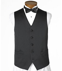 Black Satin Tailored Vest