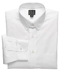 Traveler Pinpoint Solid Tab Collar Dress Shirt