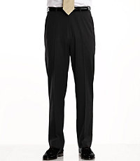 Traveler Washable Wool Solid Plain Front Pants