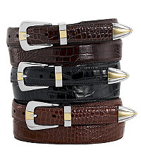 Embossed Moc Gator Belt