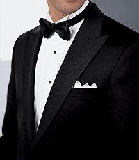 Signature Peak-Lapel Tuxedo Jacket by JoS. A. Bank - 44 Regular Black $698.00 AT vintagedancer.com