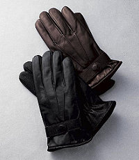 Textured Palm Lambskin Driving Gloves