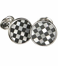Chess Classic Cufflinks CLEARANCE $24.99 AT vintagedancer.com