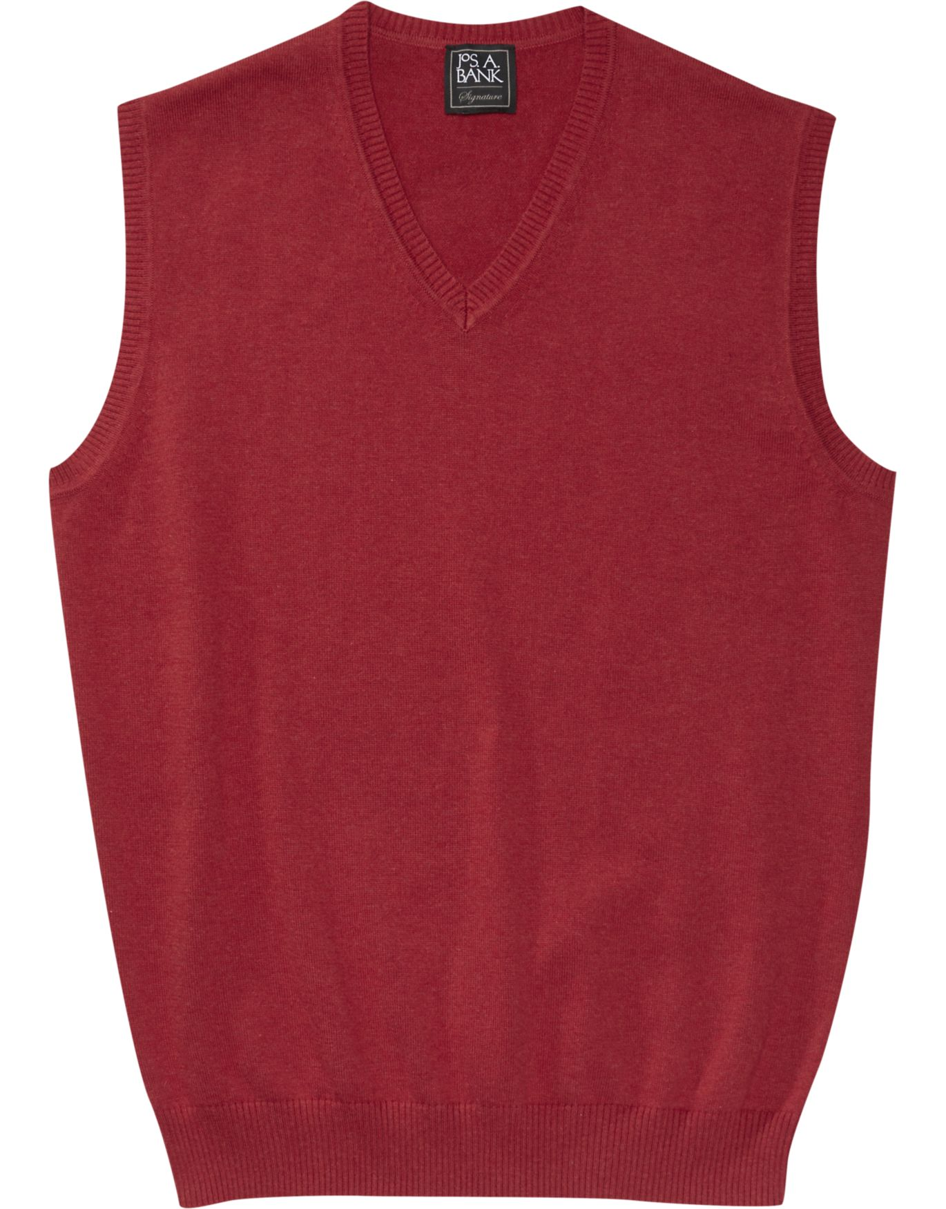 Signature Collection Tailored Fit Sweater Vest - Cotton Sweaters ...