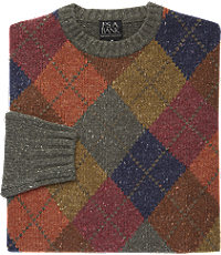 Men's Vintage Style Sweaters – 1920s to 1960s Executive Collection Traditional Fit Argyle Mens Sweater CLEARANCE - Xx Large Green $59.98 AT vintagedancer.com