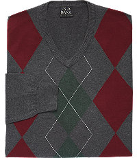 Men's Vintage Style Sweaters – 1920s to 1960s Executive Collection Traditional Fit Argyle Mens Sweater CLEARANCE - X Large Charcoal $39.98 AT vintagedancer.com