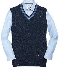 1905 Mens Sweater Vest - X Large Navy $69.50 AT vintagedancer.com