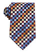 Brown/Blue Checkers Print Tie
