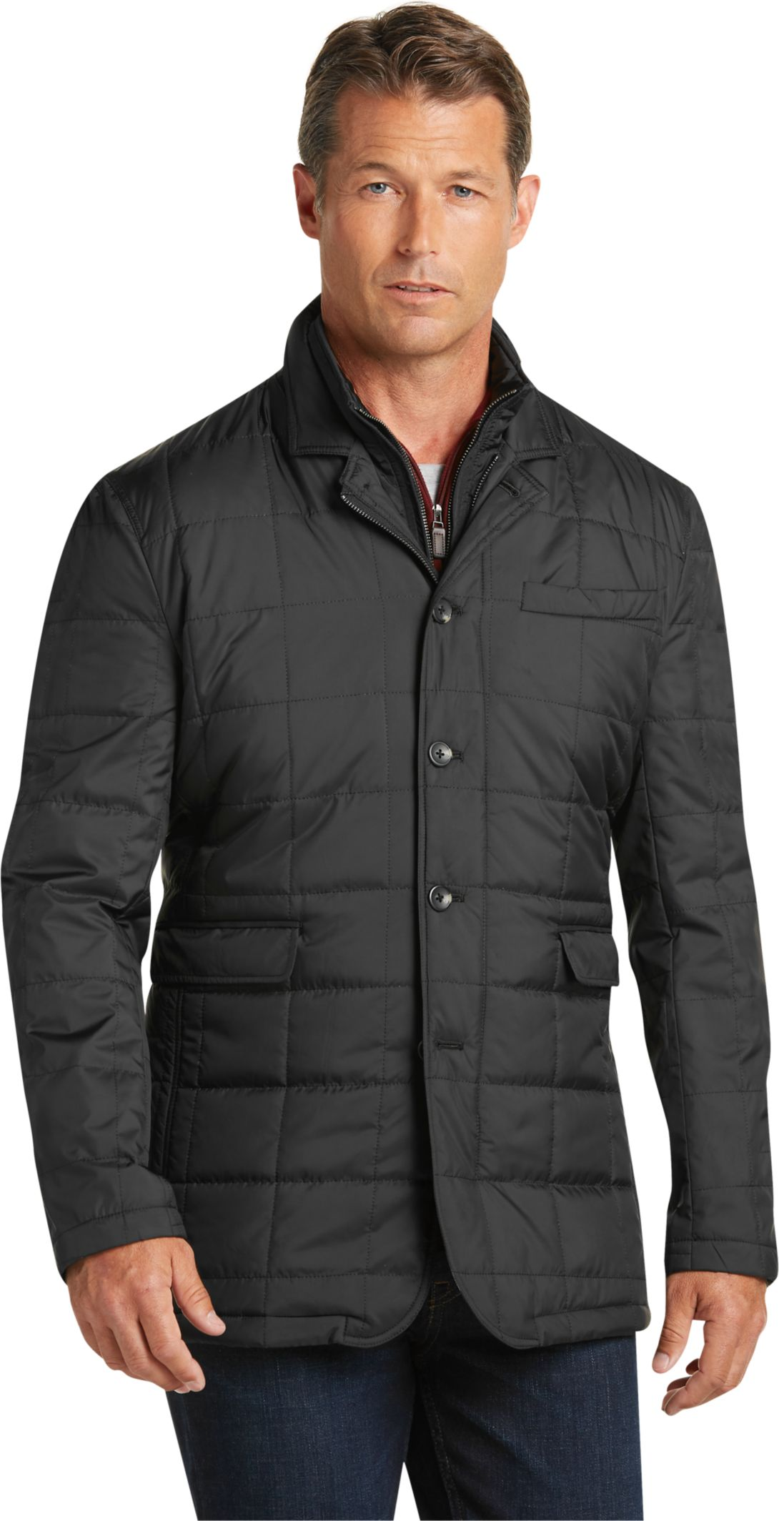 Quilted jacket mens fashion 74