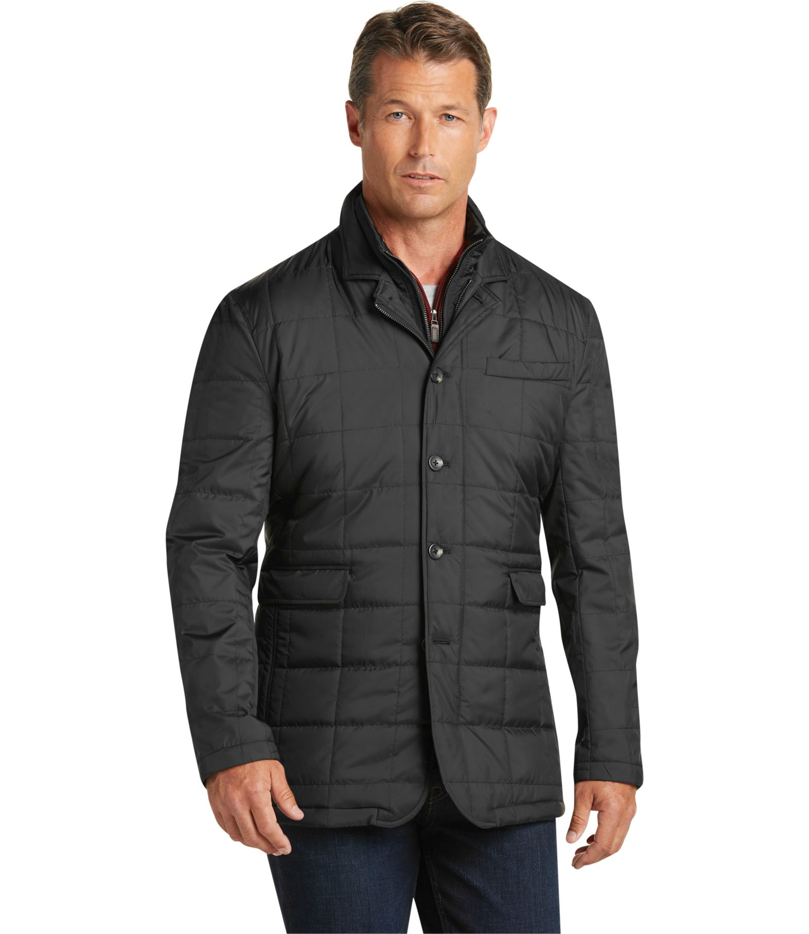 Mens quilted jacket next - Men S Outerwear Jos A Bank Johnson Traditional Fit Quilted Jacket Jos A