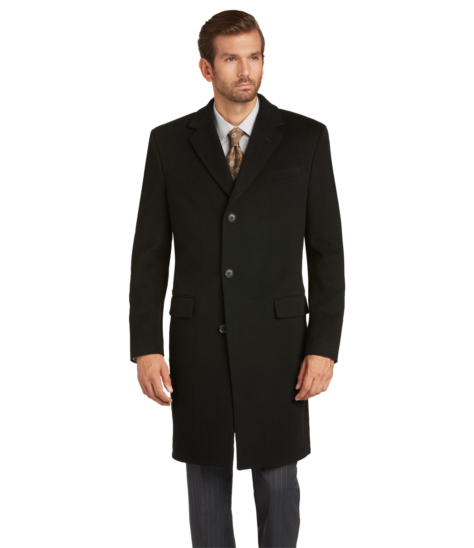 Reserve Collection Slim Fit Topcoat - All Outerwear | Jos A Bank