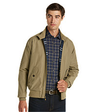 Men's Vintage Style Coats and Jackets 1905 Collection Tailored Fit Bomber Jacket $89.00 AT vintagedancer.com