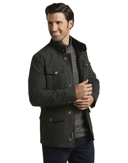 Reserve collection tailored fit field jacket price tracking for Jos a bank tailored fit vs slim fit shirts